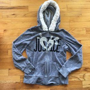 Girls 12 Justice Hoodie Sweatshirt